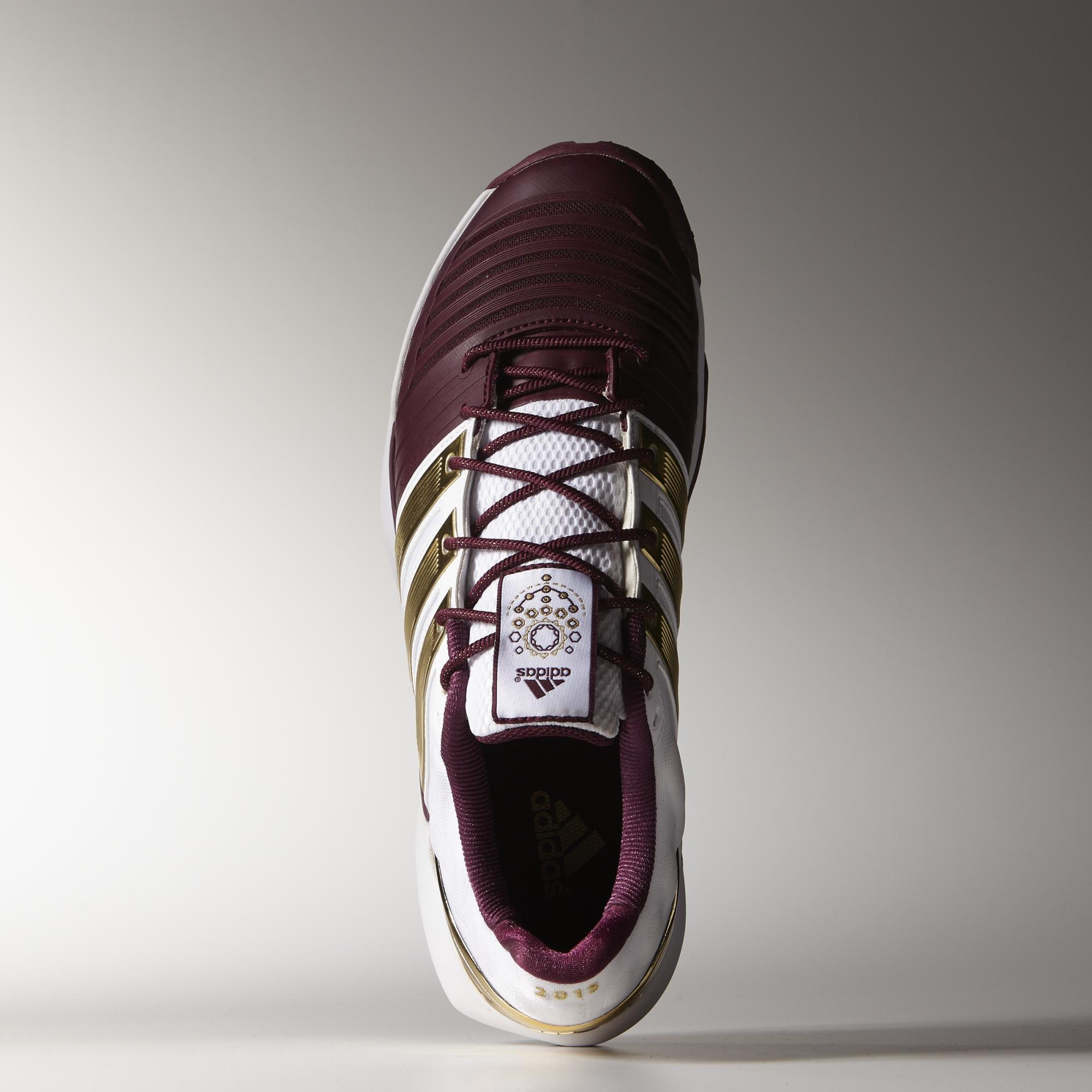 competitive price 8a818 a104d Adidas Mens adiPower Stabil 11 Limited Edition Indoor Shoes - WhiteGold