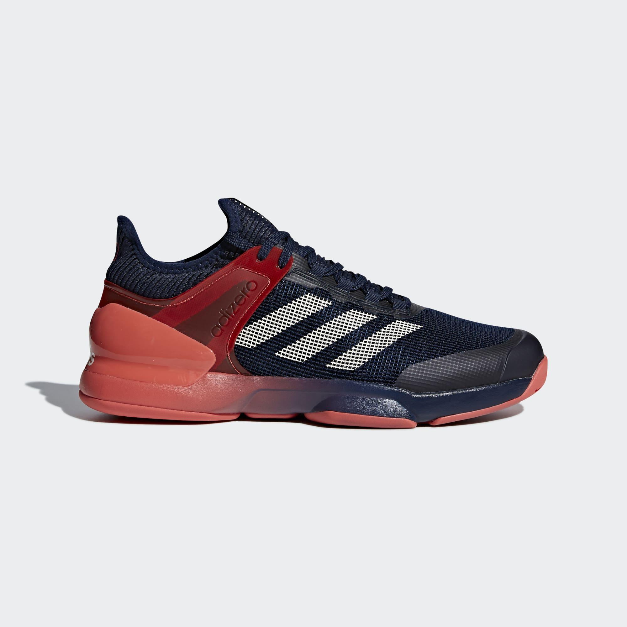 614961018 Adidas Mens Adizero Ubersonic 2.0 Tennis Shoes - Navy Blue Red -  Tennisnuts.com