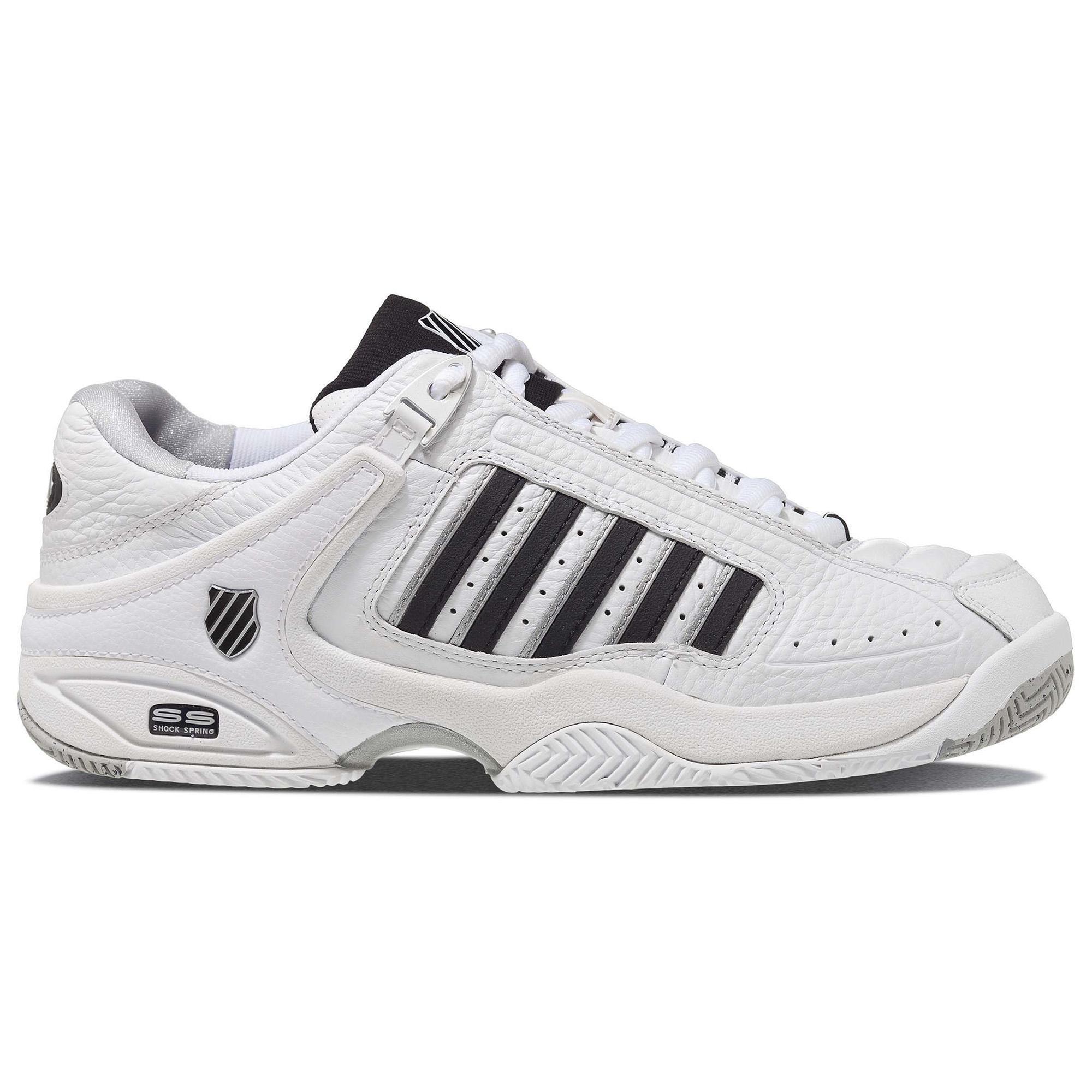 K-Swiss Mens Defier RS Tennis Shoes - White Black - Tennisnuts.com bb92d3b80011