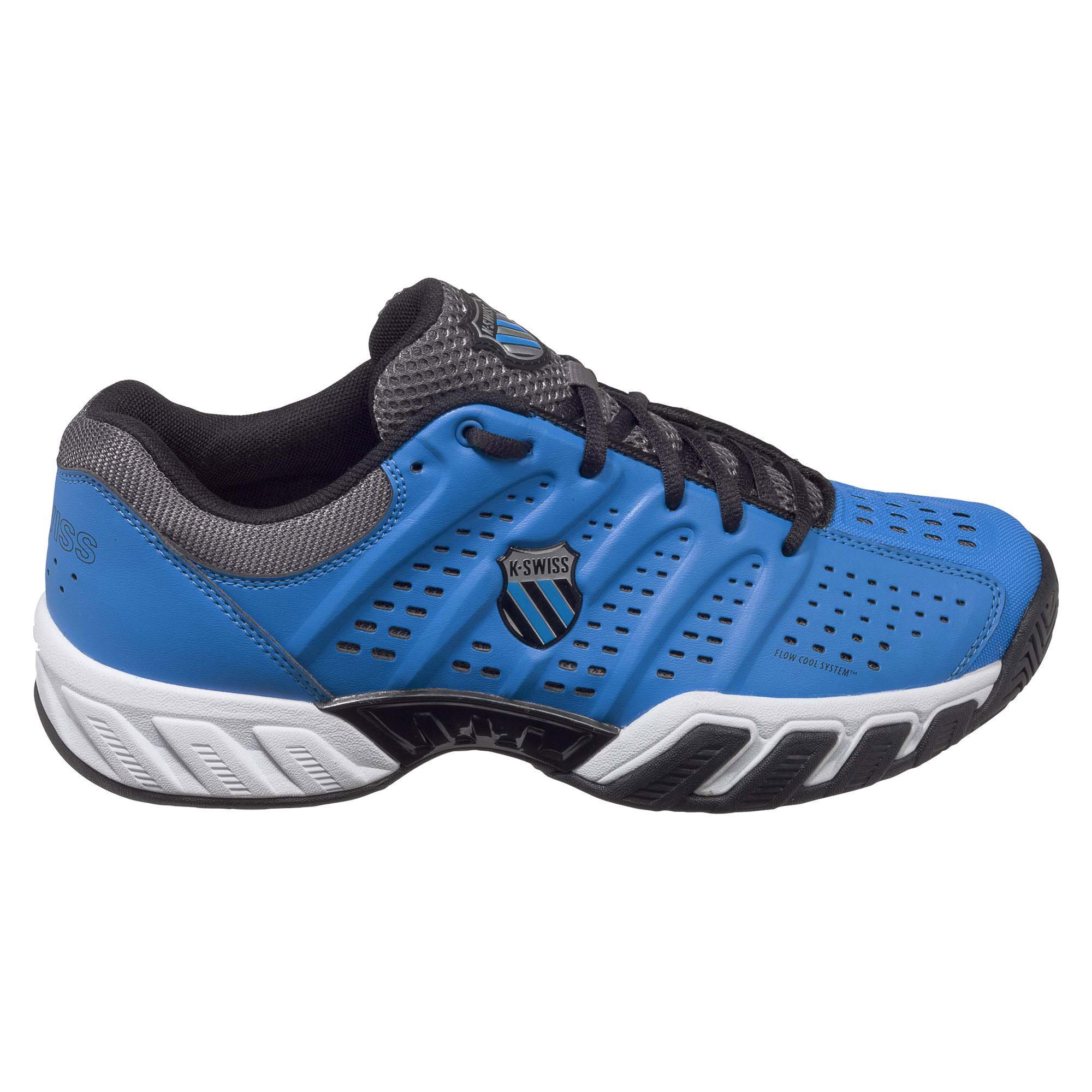 K swiss mens bigshot light tennis shoes brilliant blue for Fish tennis shoes