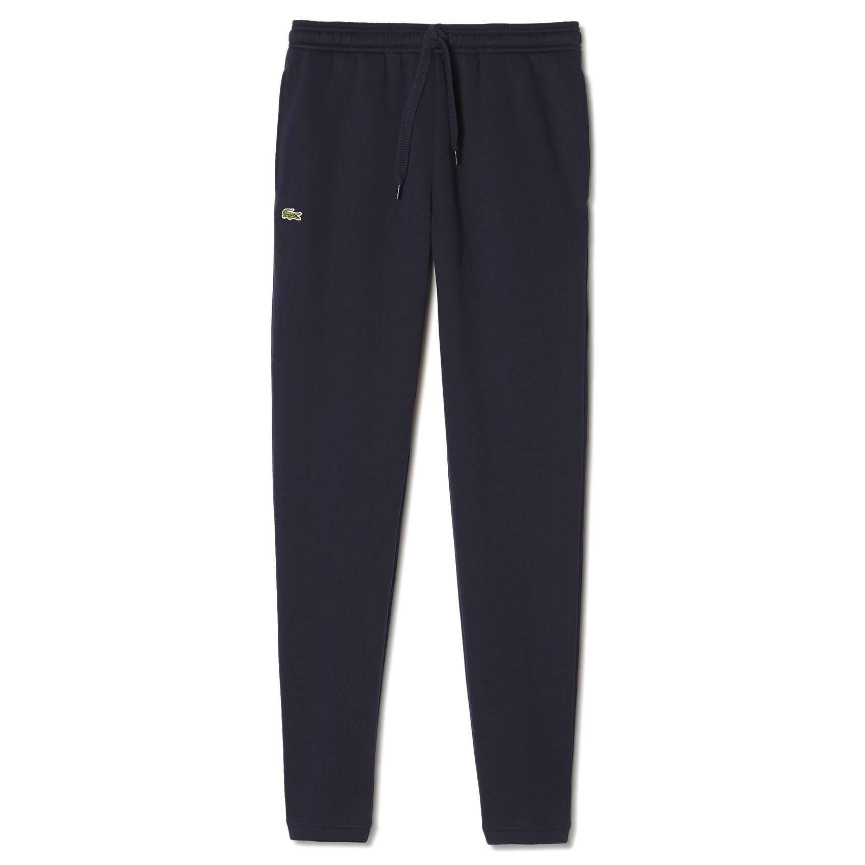 bd1993ba8 Lacoste Sport Mens Fleece Sweatpants - Navy - Tennisnuts.com