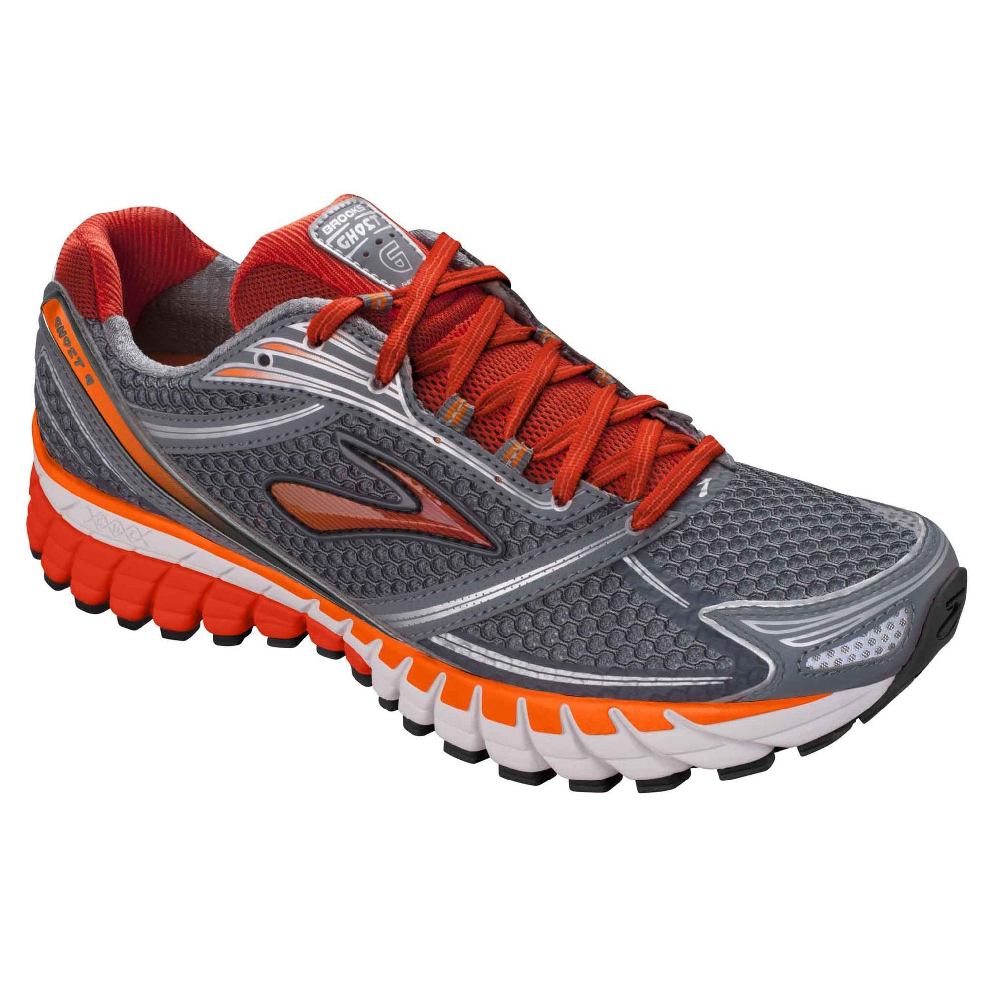 Brooks Mens Ghost 6 Running Shoes - Grey/Orange