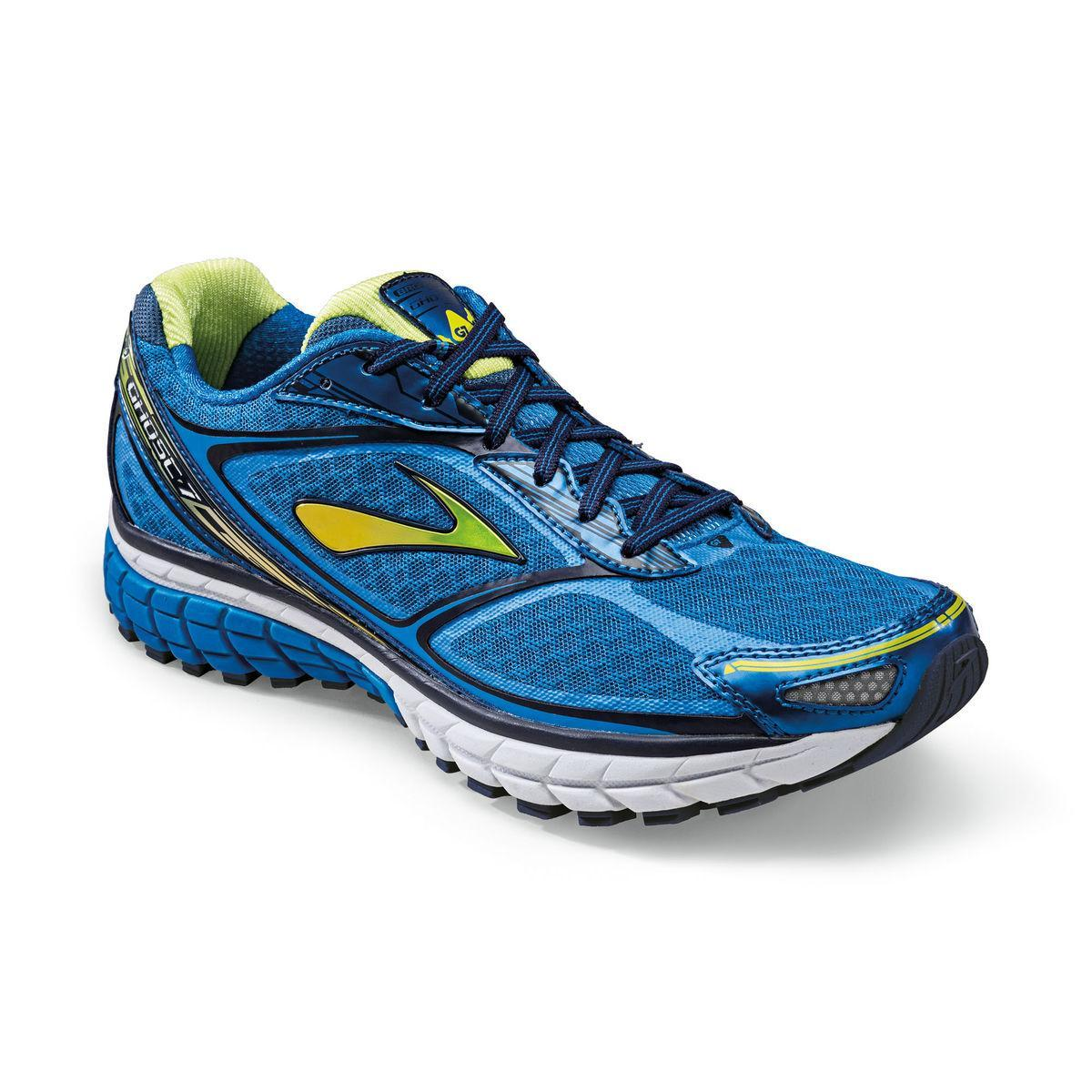 Brooks Mens Ghost 7 Running Shoes - Electric Blue/Lime