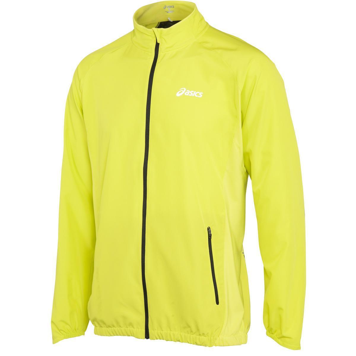 asics yellow running jacket