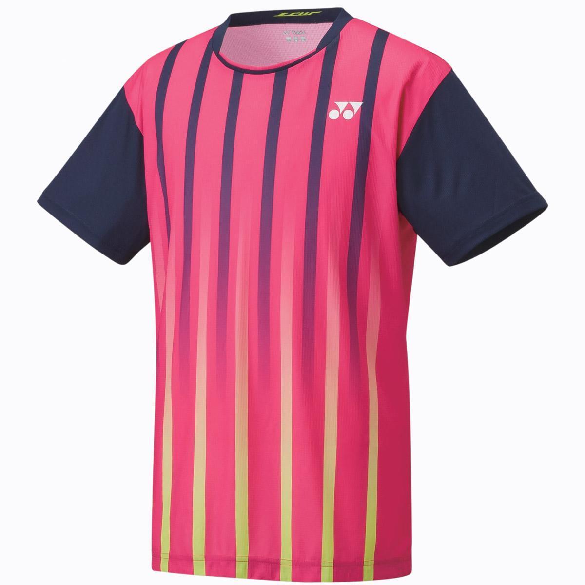 Yonex mens game shirt dark pink 12106ex for Mens dark pink dress shirt