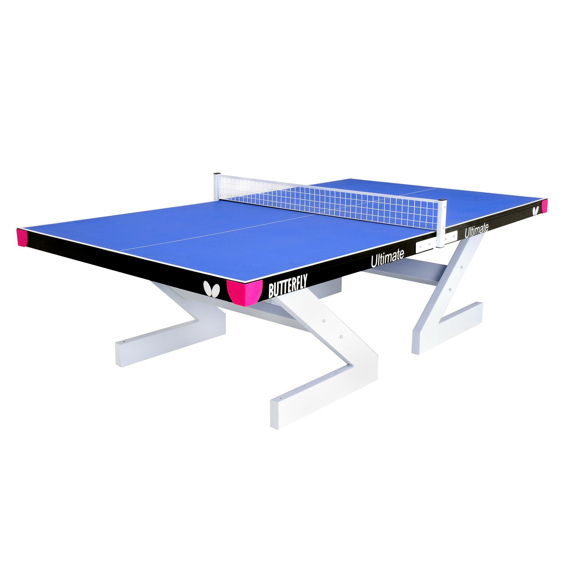 Butterfly ultimate 18mm outdoor table tennis table blue - Weatherproof table tennis table ...
