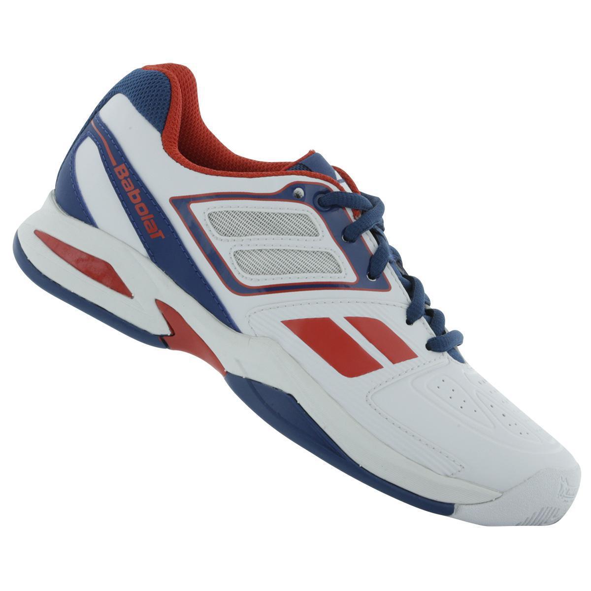 bc32d0d292a44 Babolat Boys Propulse Team BPM Junior Tennis Shoes - White/Blue