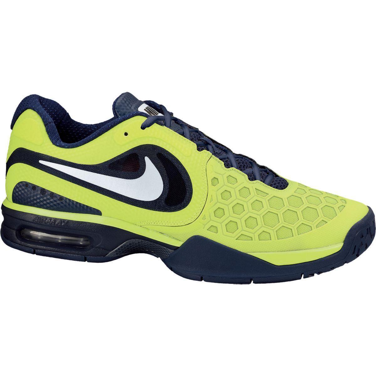 big sale d1ff1 4b2f6 Nike Mens Air Max CourtBallistec 4.3 Tennis Shoes - Lime Navy -  Tennisnuts.com