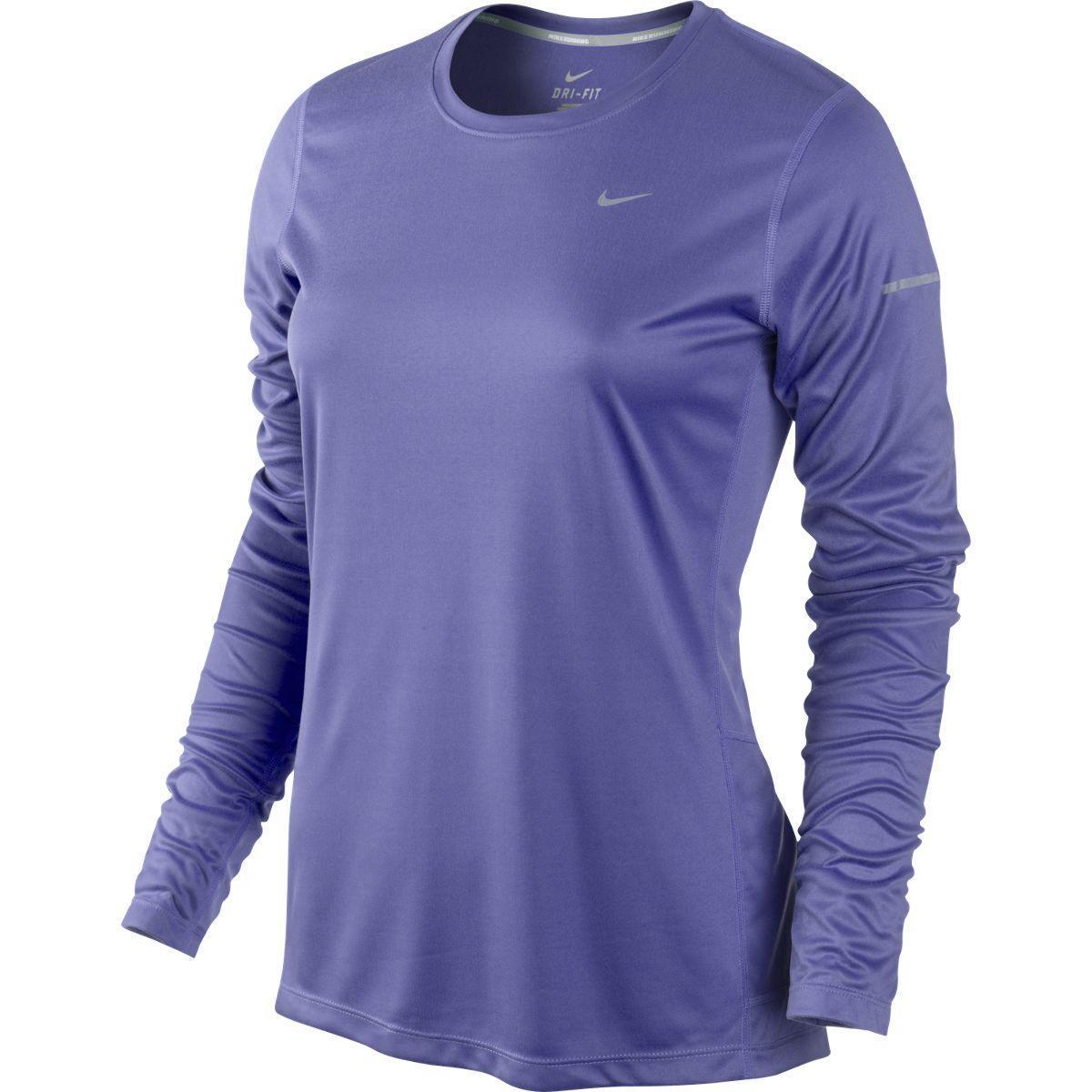 33d9ed93 Nike Womens Miler Long Sleeve Running Top - Purple Haze/Reflective Silver -  Tennisnuts.com