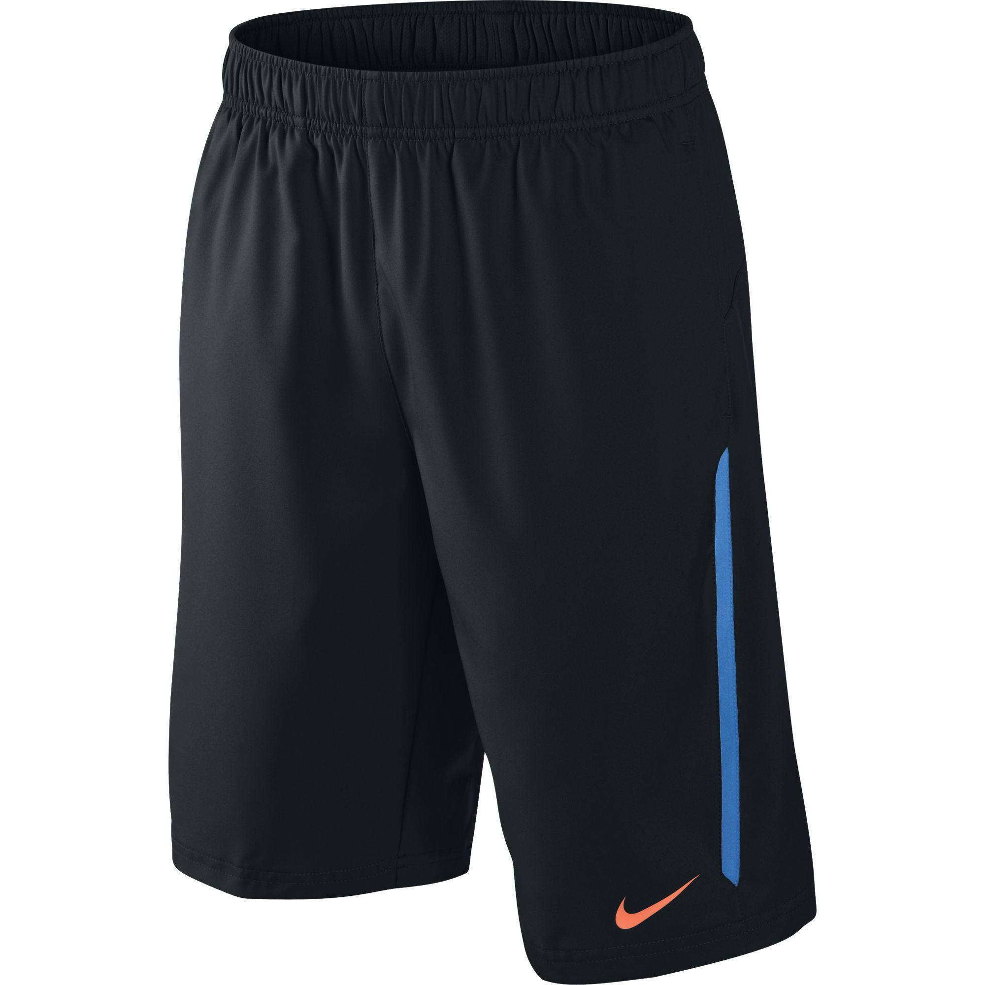 Nike Boys N.E.T Shorts - Black/Blue - Tennisnuts.com
