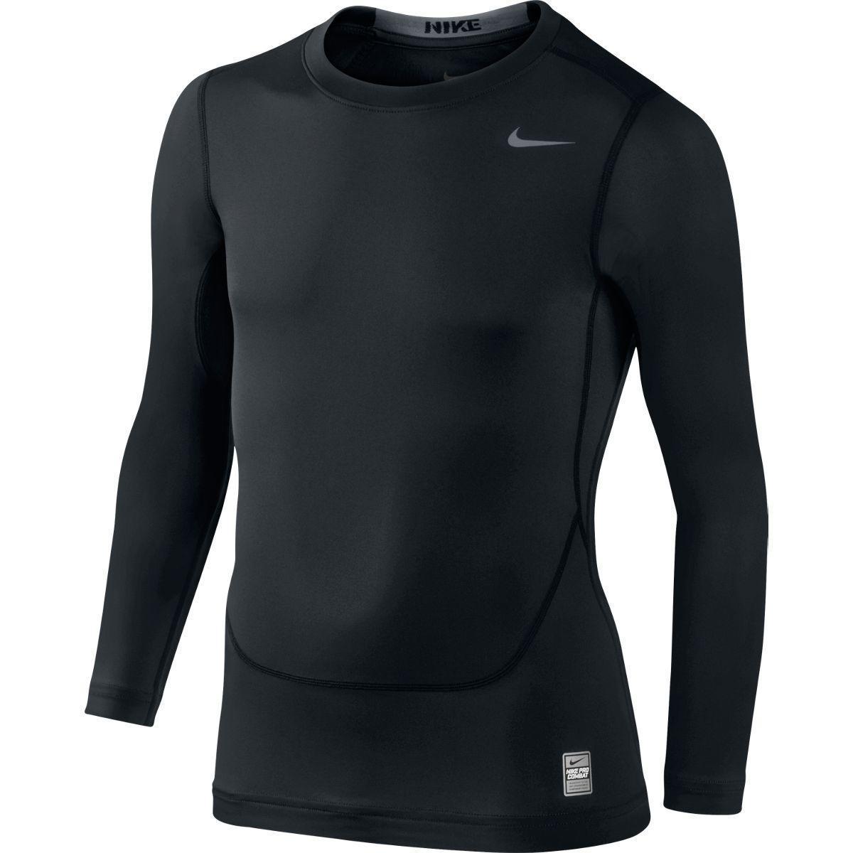 Nike Boys Pro Core Compression Ls Crew Black Cool Grey