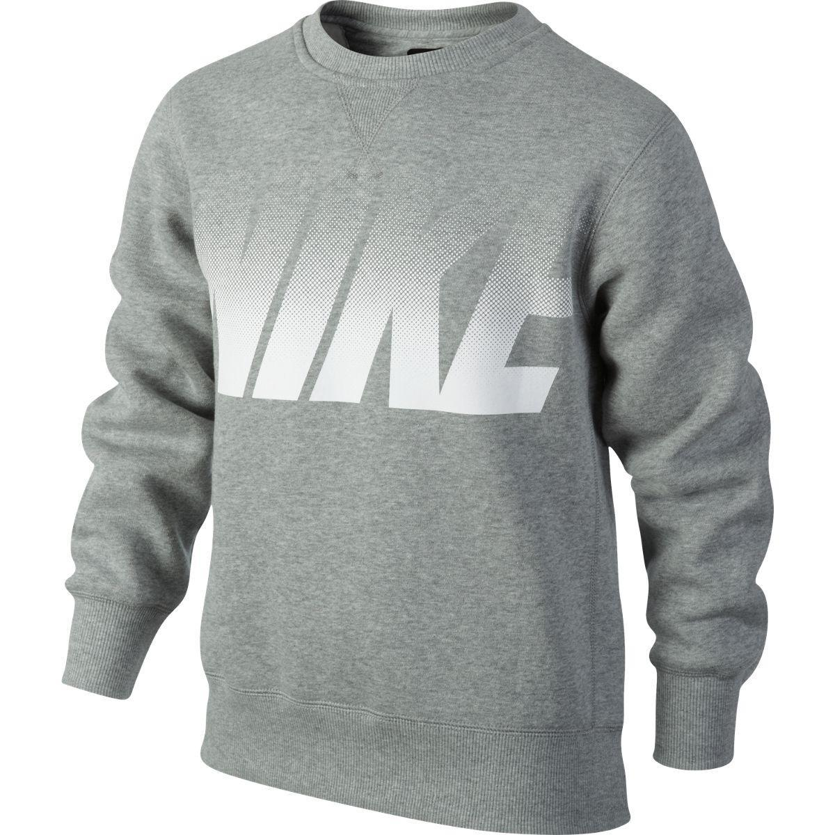 Nike Boys YA76 Graphic Sweater - Grey - Tennisnuts.com