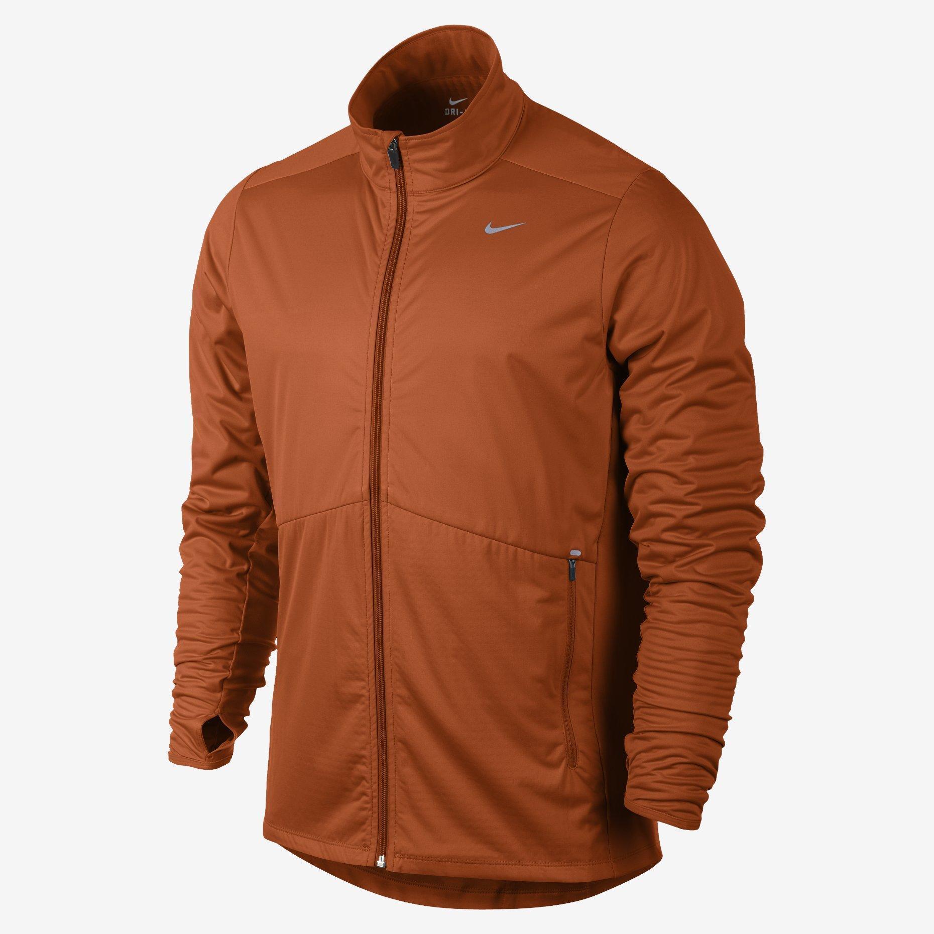 fc8bb2a5e17a Nike Mens Element Shield FZ Running Jacket - Orange Reflective Silver -  Tennisnuts.com