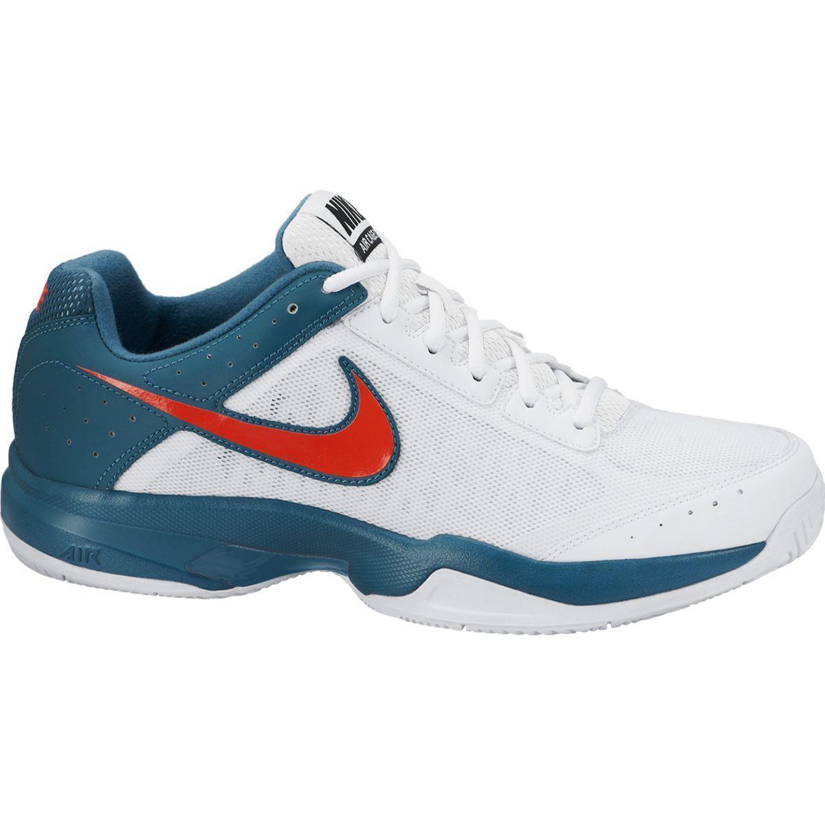 100% authentic 0a131 fdcfc Nike Mens Air Cage Court Tennis Shoes - White Blue - Tennisnuts.com