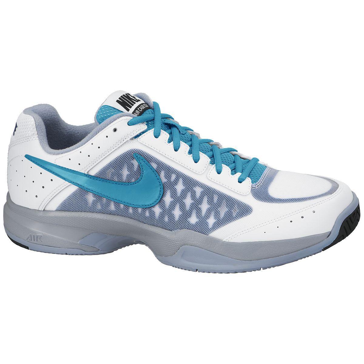 online store 383c1 ca2e0 Nike Mens Air Cage Court Tennis Shoes - White Blue Lagoon - Tennisnuts.com
