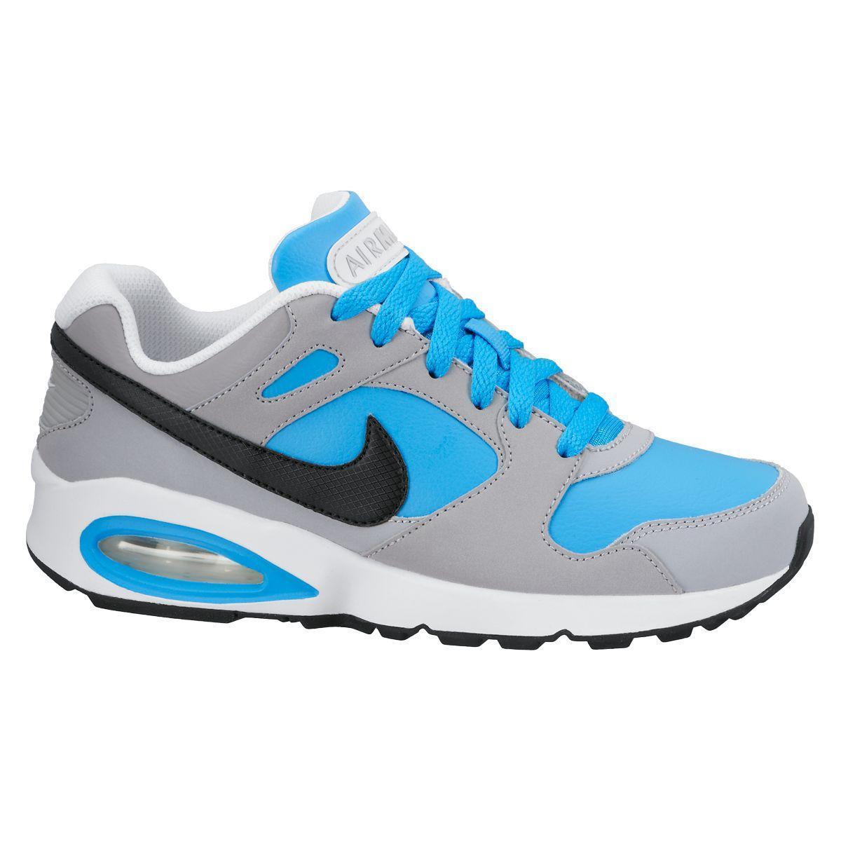 Nike Boys Air Max Coliseam Running Shoes - Blue/Grey (Size ...