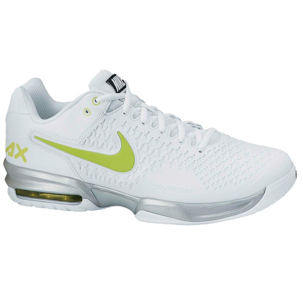 Nike Mens Air Max Cage Tennis Shoes WhiteGreen