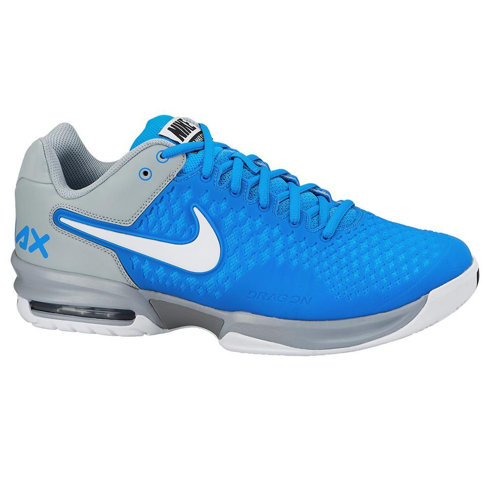 nike mens air max cage tennis shoes blue tennisnuts