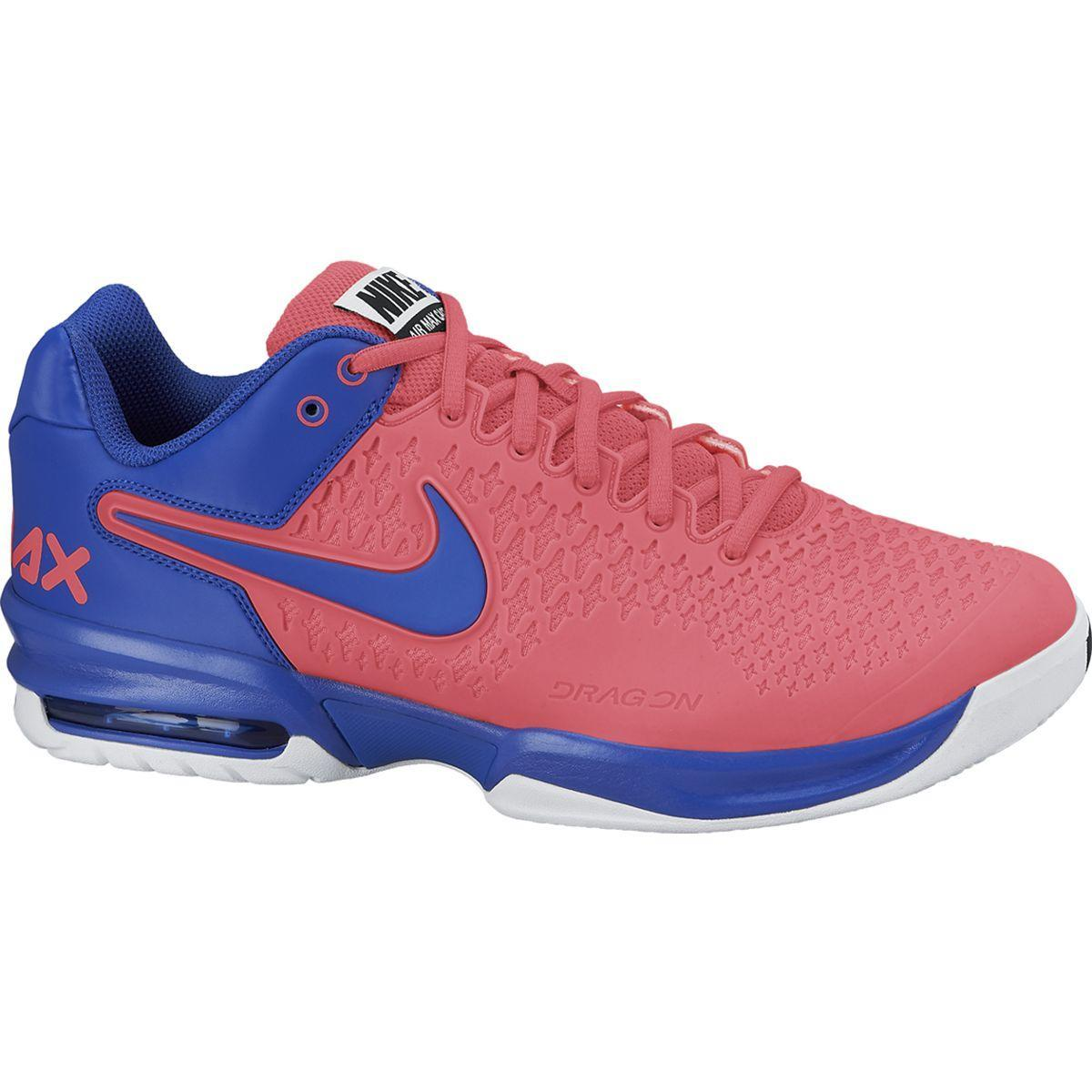 cheap for discount 32a9e a232a Nike Mens Air Max Cage Tennis Shoes - Pink Blue - Tennisnuts.com