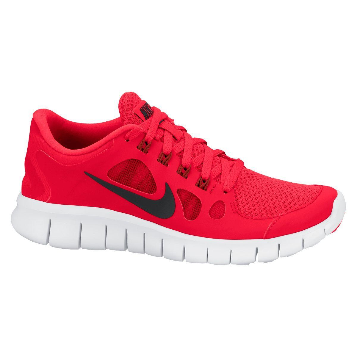 8f43d5a11a8 Nike Boys Free 5.0+ Running Shoes - Red - Tennisnuts.com