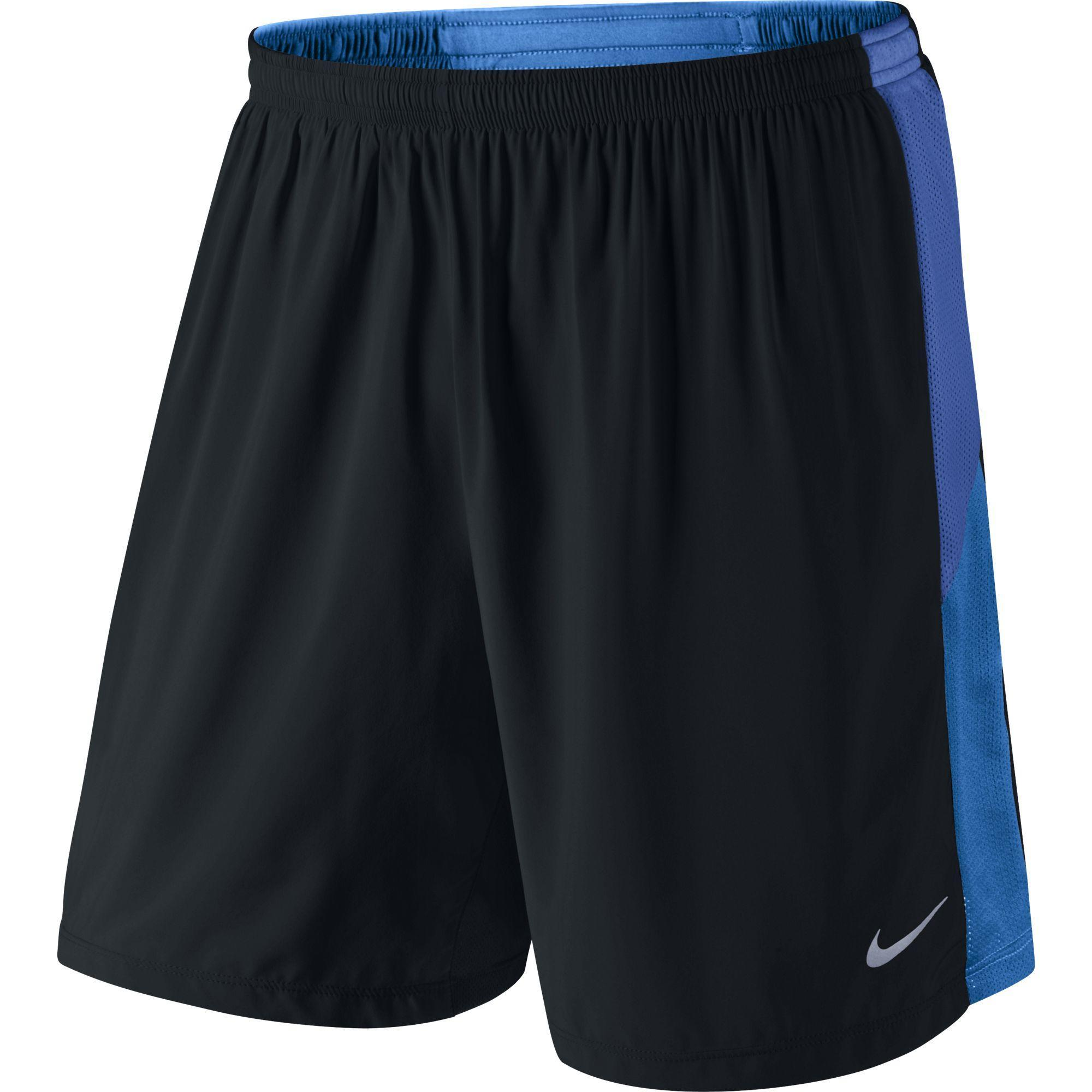 "Nike Mens 7"" Pursuit 2-in-1 Shorts - Black/Blue ..."