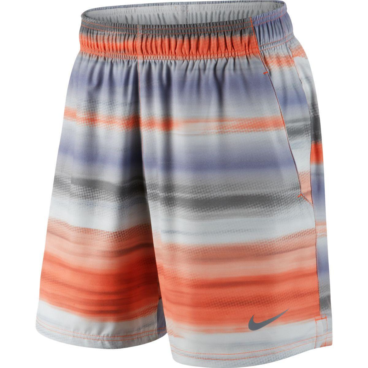 "Nike Mens Gladiator 8"" Shorts - Turf Orange/Cool Grey ..."