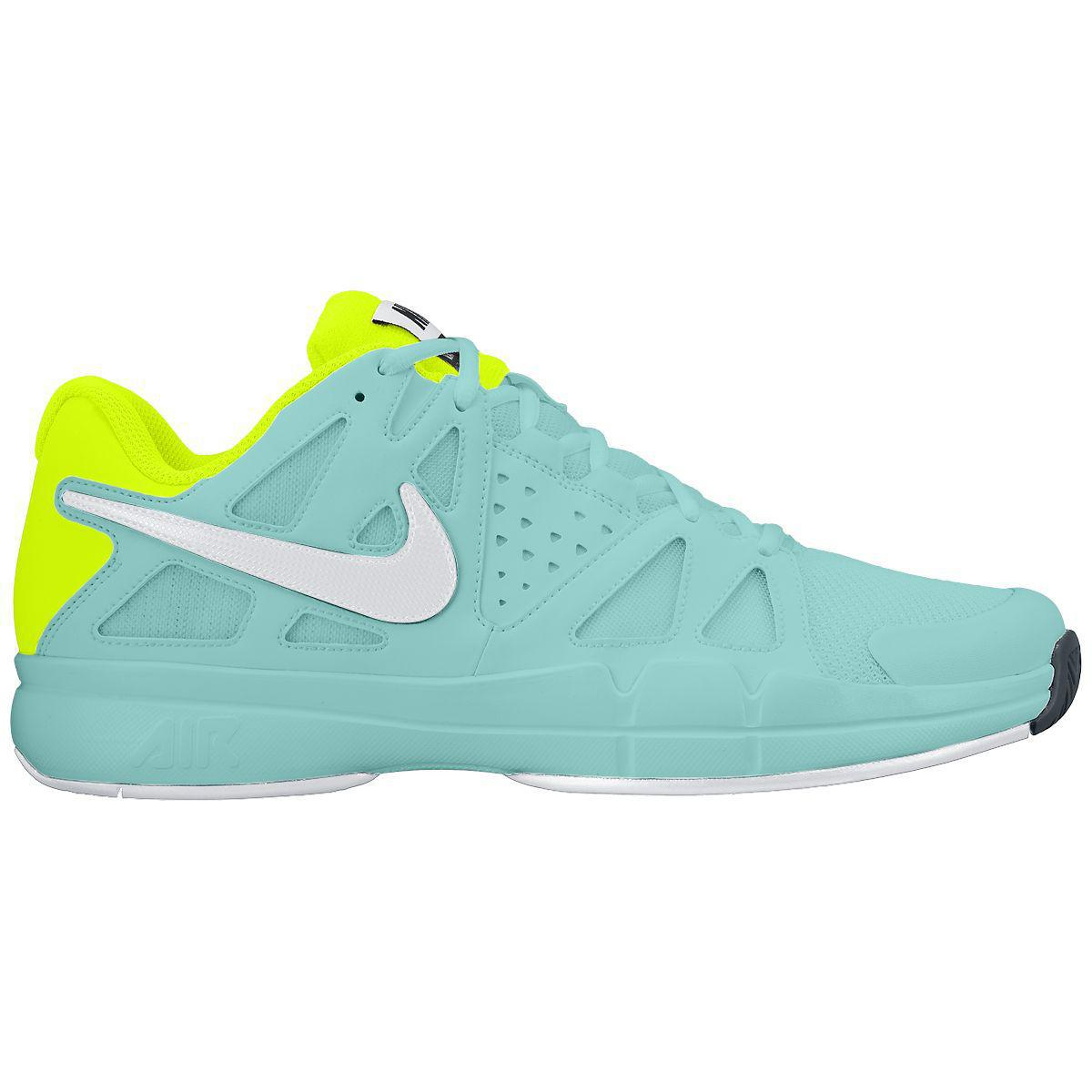 nike womens air vapor advantage tennis shoes light aqua