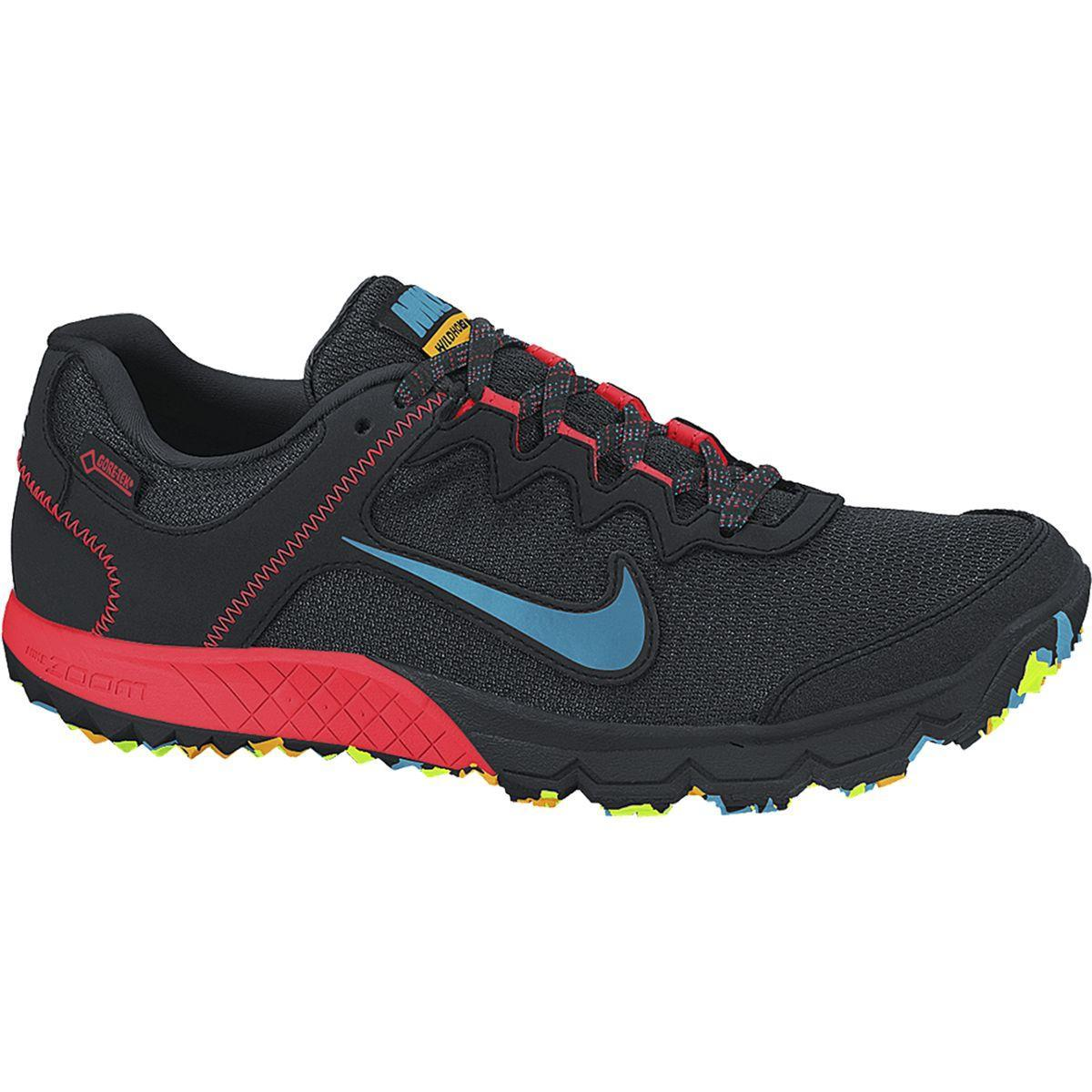 5f3b4cab8dc Nike Mens Zoom Wildhorse GTX Trail Running Shoes - Black Bright Crimson -  Tennisnuts.com