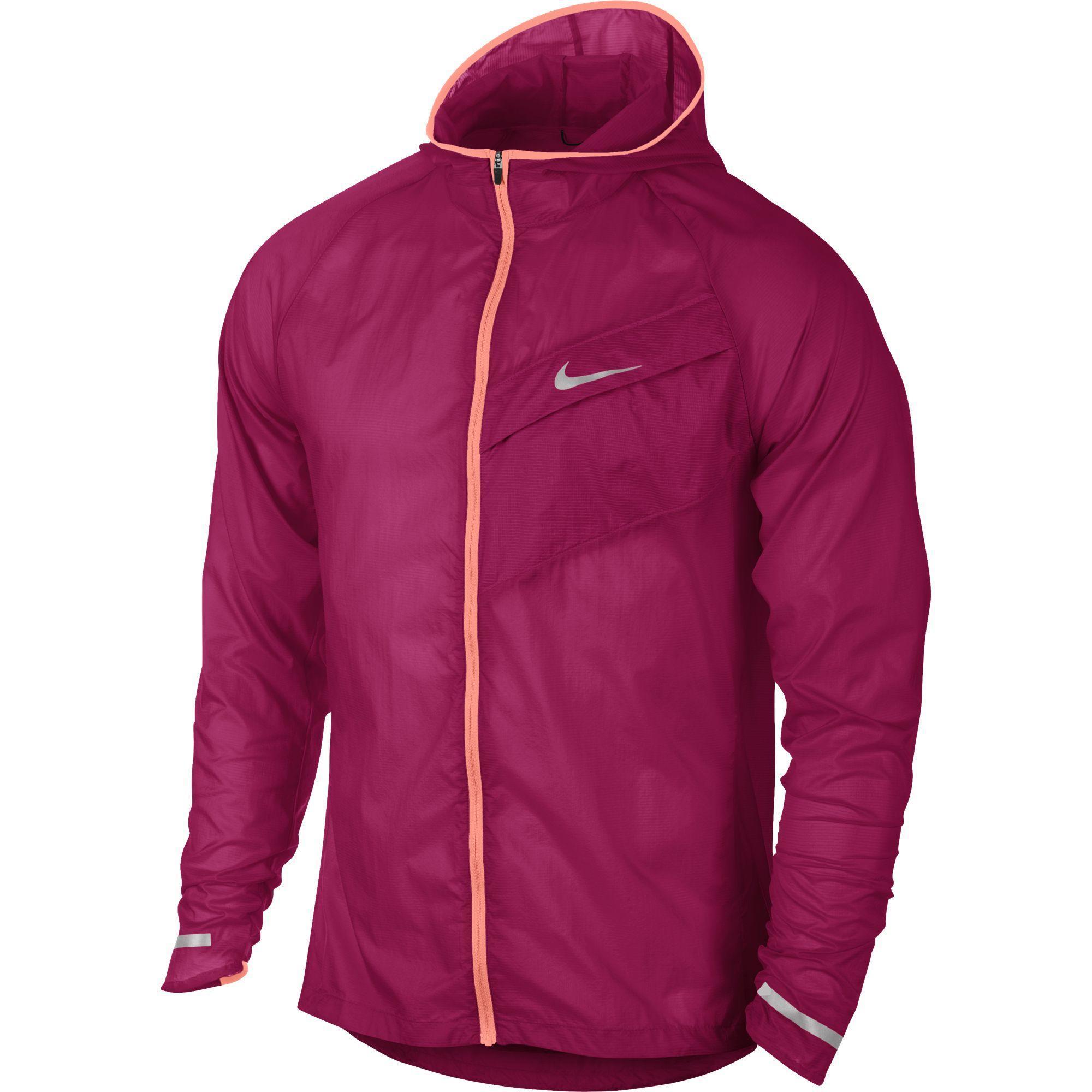 81708a9a0ab7 Nike Mens Impossibly Light Running Jacket - Fuchsia - Tennisnuts.com
