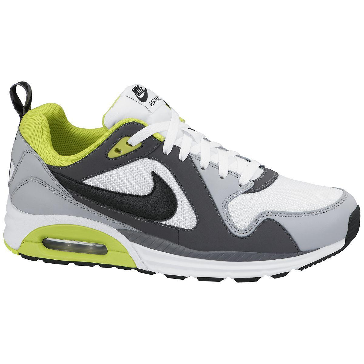 6cf3d1ce2aa6f Nike Mens Air Max Trax Running Shoes - White/Volt/Wolf Grey