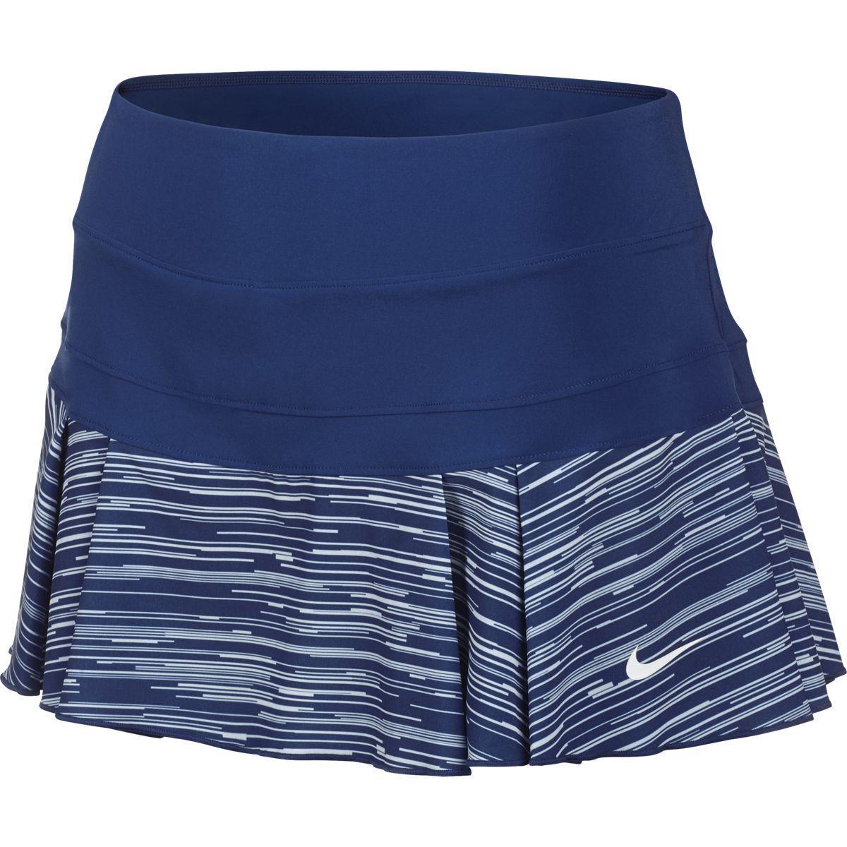 ce53840975 Nike Womens Victory Pleated Skirt - Blue - Tennisnuts.com