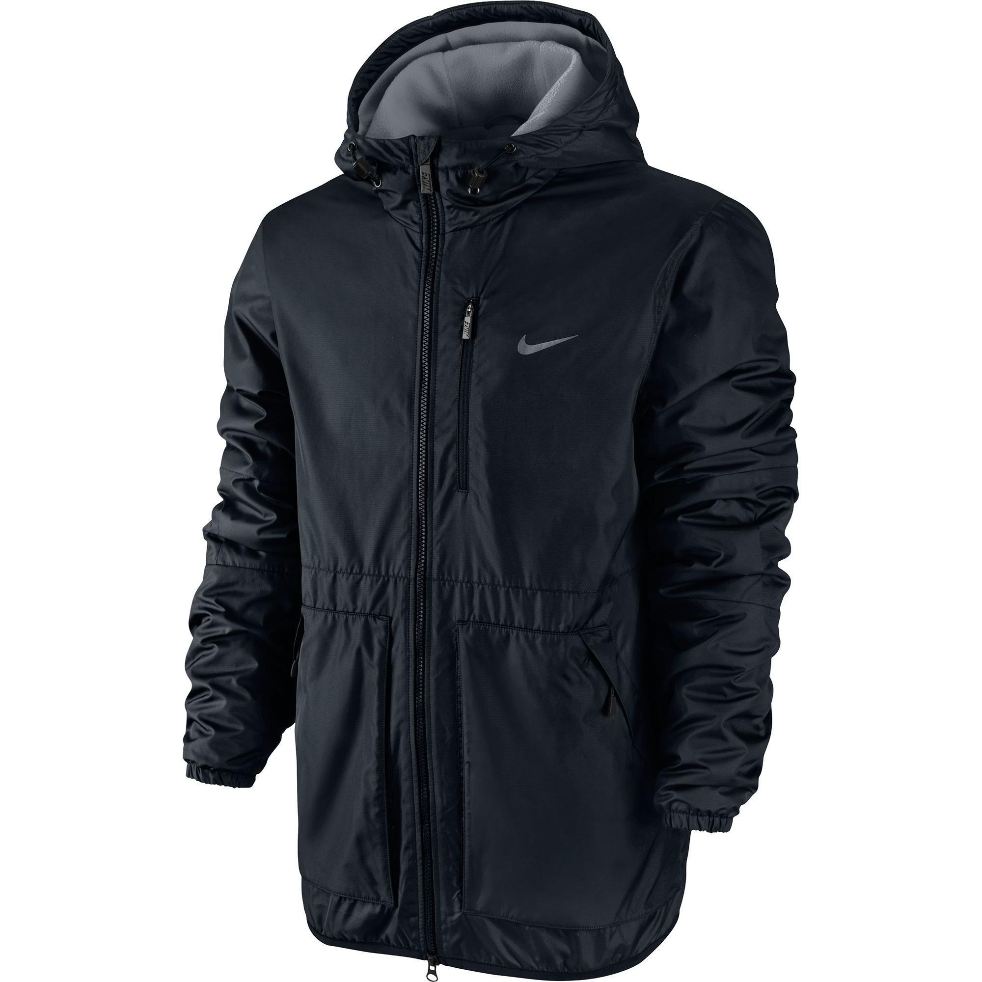 nike mens alliance fleece lined jacket black grey. Black Bedroom Furniture Sets. Home Design Ideas