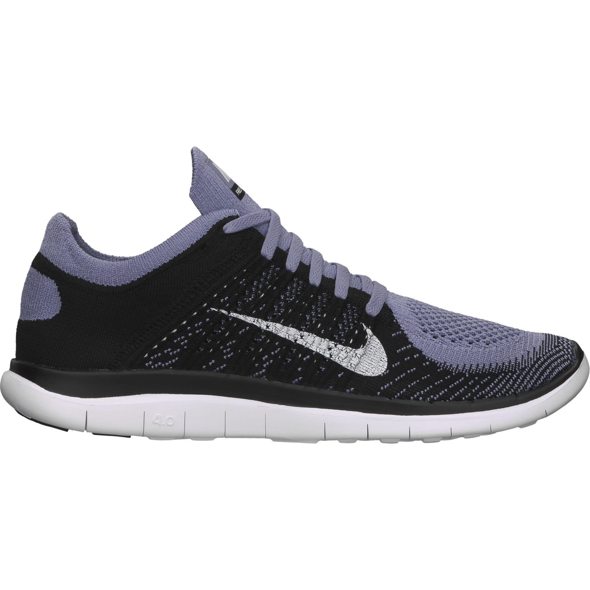 the latest ab88c a0e2f Nike Mens Free 4.0 FlyKnit - Purple Black - Tennisnuts.com