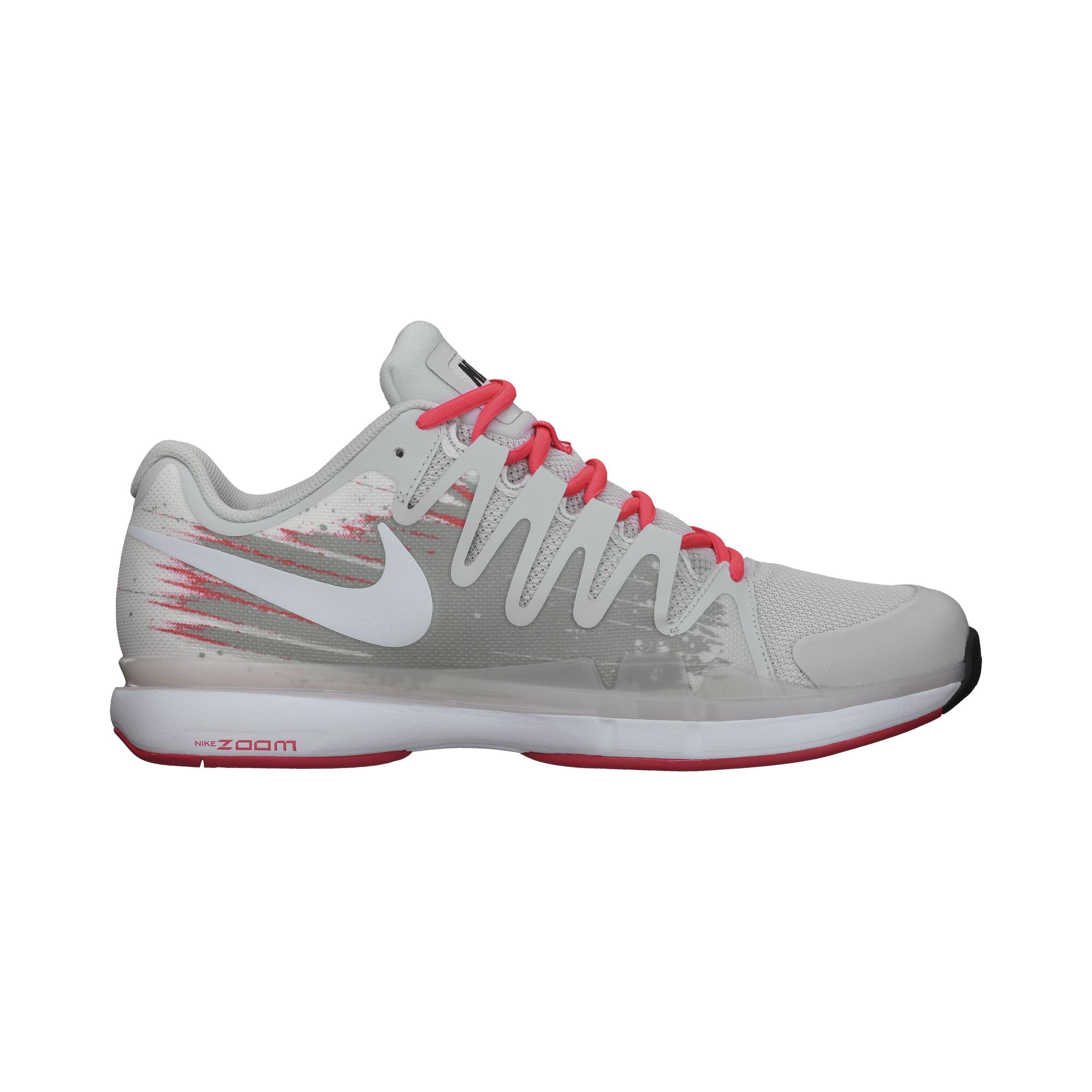 2633a131e6cddf Nike Mens Zoom Vapor 9.5 Tour Tennis Shoes - Grey Laser Crimson -  Tennisnuts.com