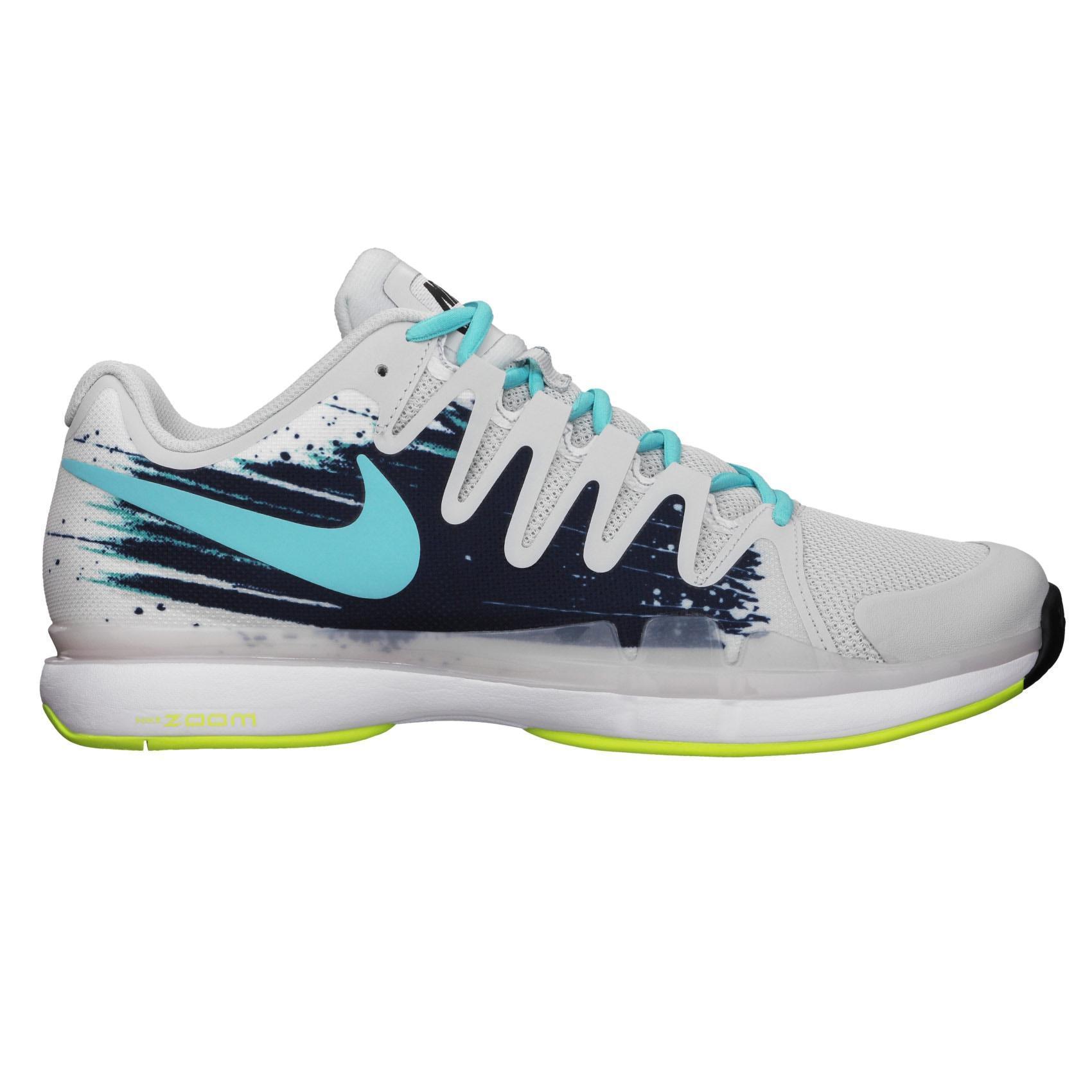 20f9ab2bc8639e Nike Mens Zoom Vapor 9.5 Tour Tennis Shoes - Grey Blue - Tennisnuts.com