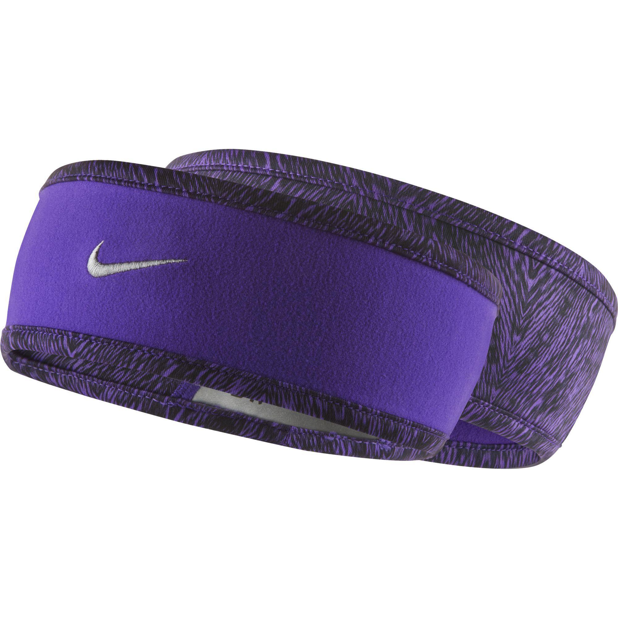 Nike Womens Run Cold-Weather Reversible Headband - Grape Reflective Silver  - Tennisnuts.com 15a0c775e86