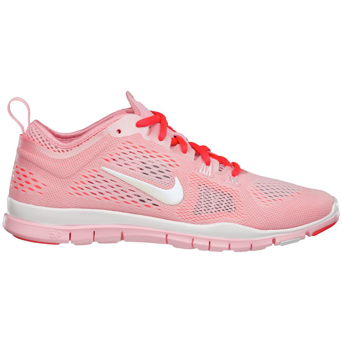 cheap for discount 57afb 1f28f Nike Womens Free 5.0 TR Fit 4 Breath Training Shoes - Pink/White