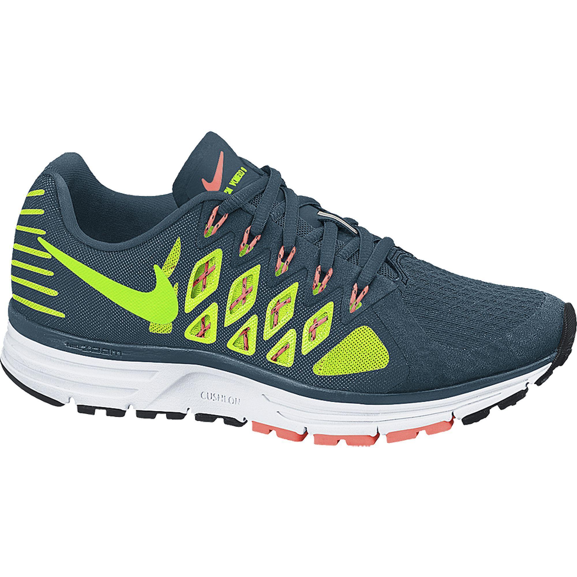 4f59507734d5 Nike Mens Zoom Vomero 9 Running Shoes - Space Blue Electric Green -  Tennisnuts.com