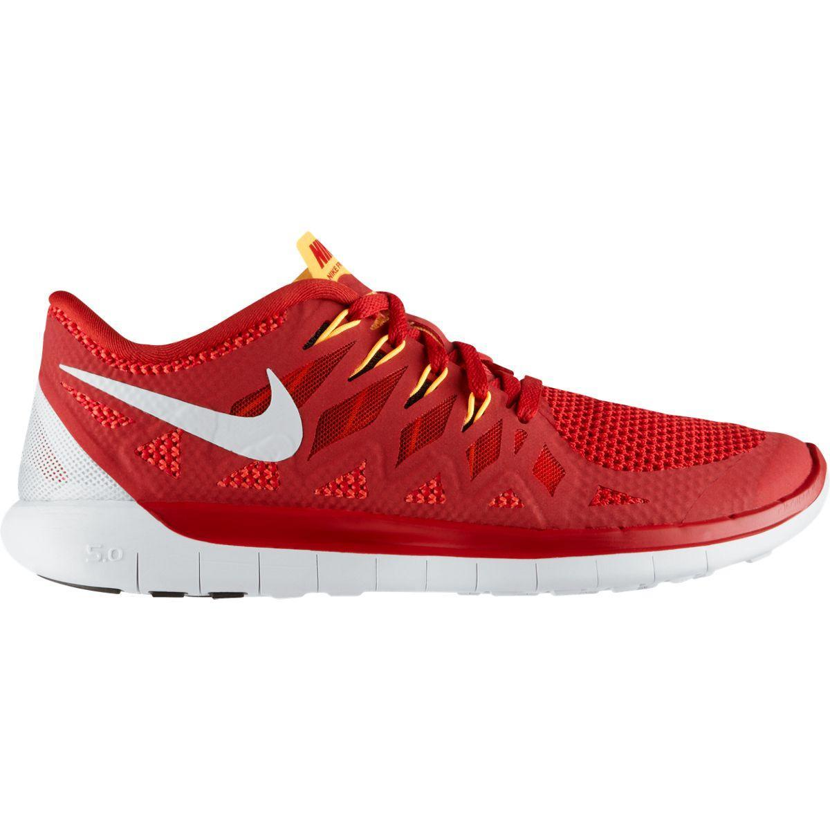 e98d37aec1 Nike Mens Free 5.0+ Running Shoes - Gym Red Light Crimson - Tennisnuts.com