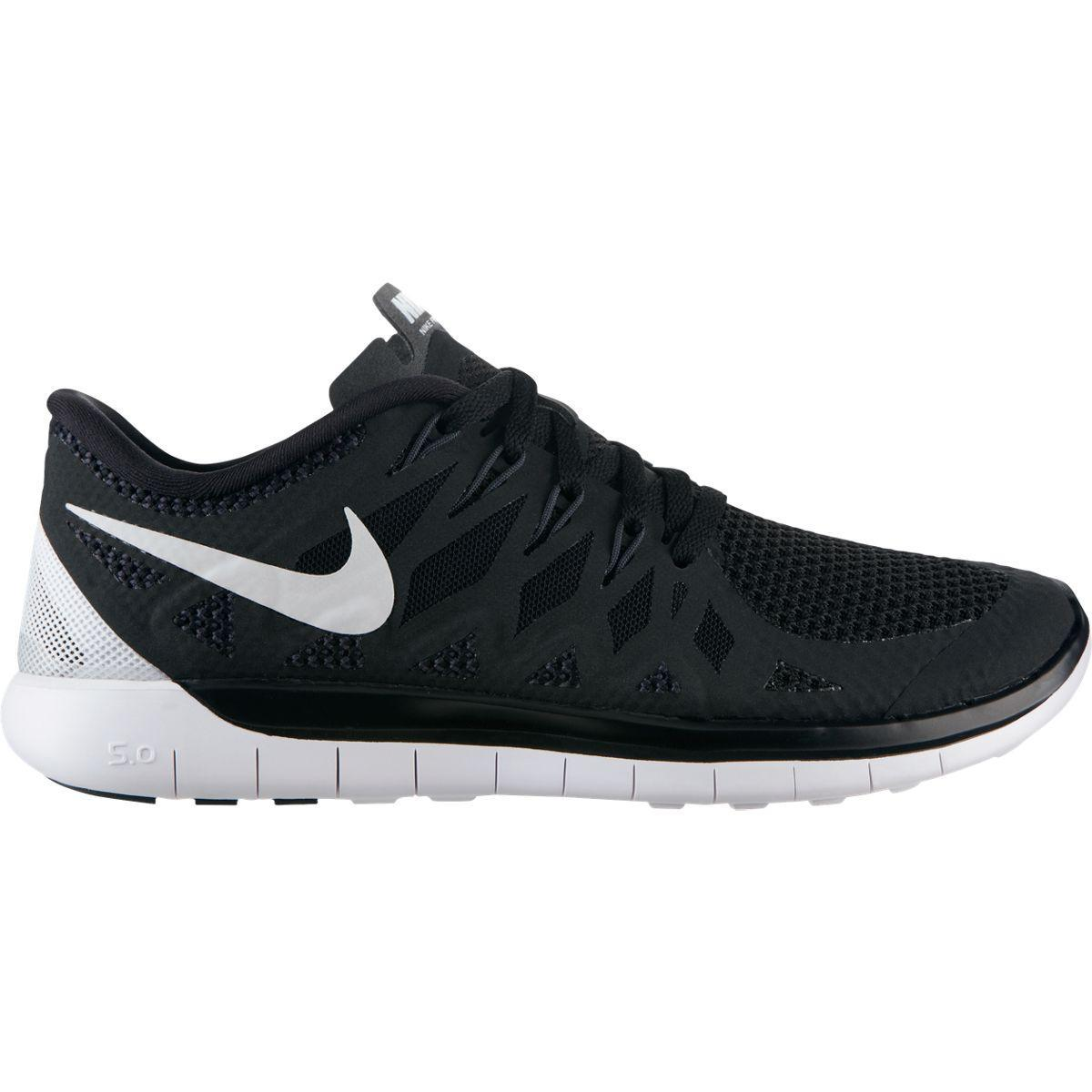 nike womens free 5 0 running shoes black white. Black Bedroom Furniture Sets. Home Design Ideas