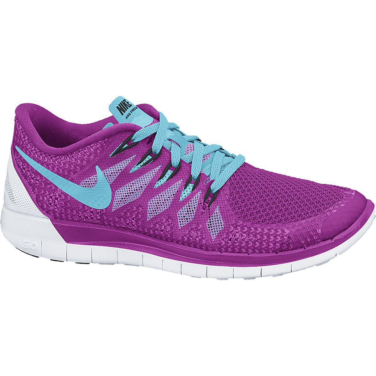 nike womens free 5 0 running shoes fucshia flash. Black Bedroom Furniture Sets. Home Design Ideas