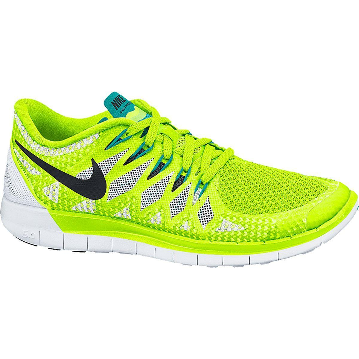 d511fb1578 Nike Womens Free 5.0+ Running Shoes - Volt