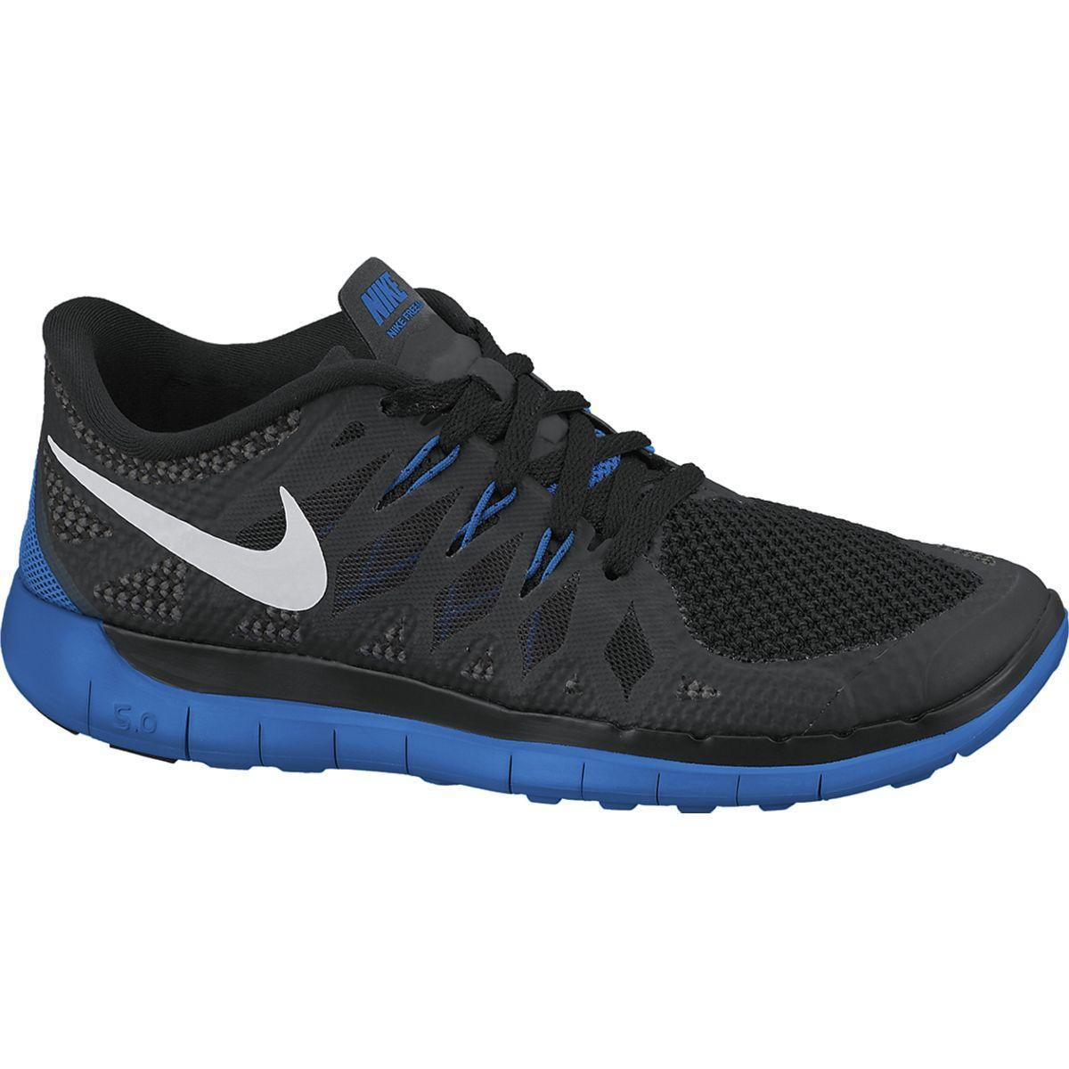 Nike Boys Free 5.0+ Running Shoes - Black/Photo Blue ...