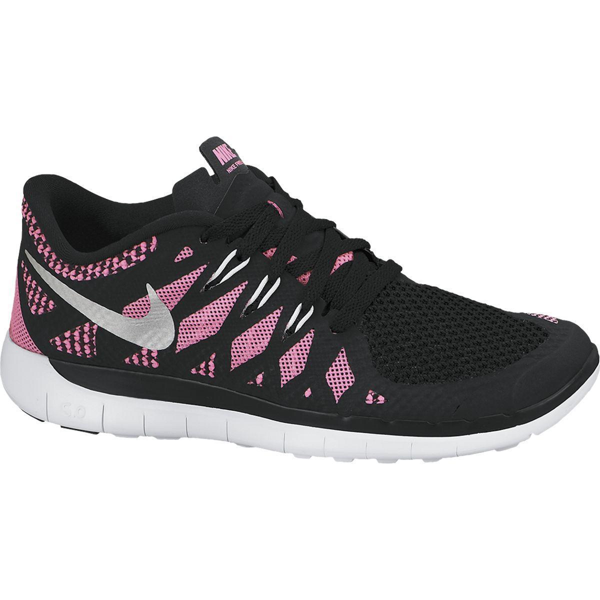 8049dea863d2 Nike Kids Free 5.0+ Running Shoes - Black Pink Glow - Tennisnuts.com