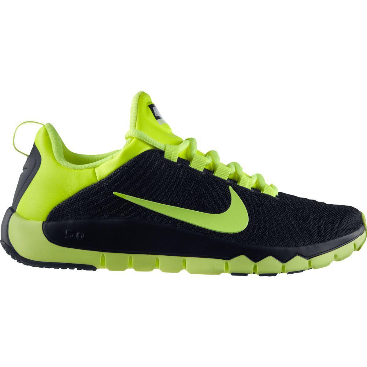 e88764e08d55 Nike Mens Free Trainer 5.0 Training Shoes - Black Volt - Tennisnuts.com