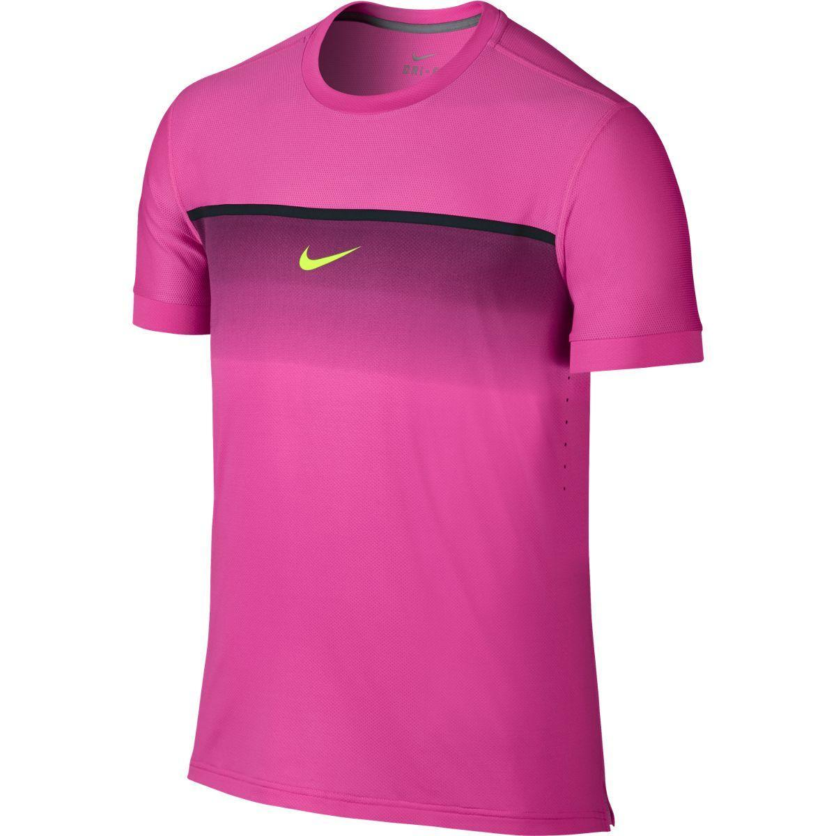 new products bc2ac 24727 Nike Mens Challenger Premier Rafa Crew - Pink PowVolt - Tenn
