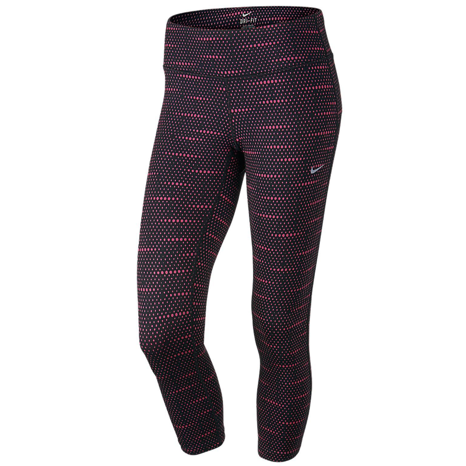 ... factory outlets 83329 488bf Nike Womens Dri-FIT Epic Run Tights -  BlackHot Pink ... 117ef9e5c0c2