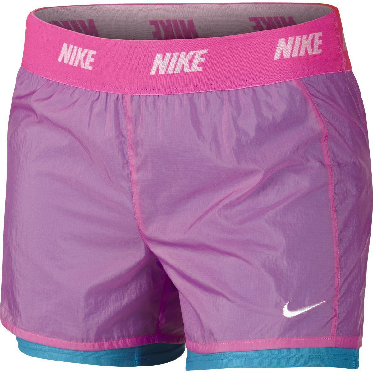 Nike Girls Icon Woven 2-in-1 Shorts - Pinksicle/Blue ...