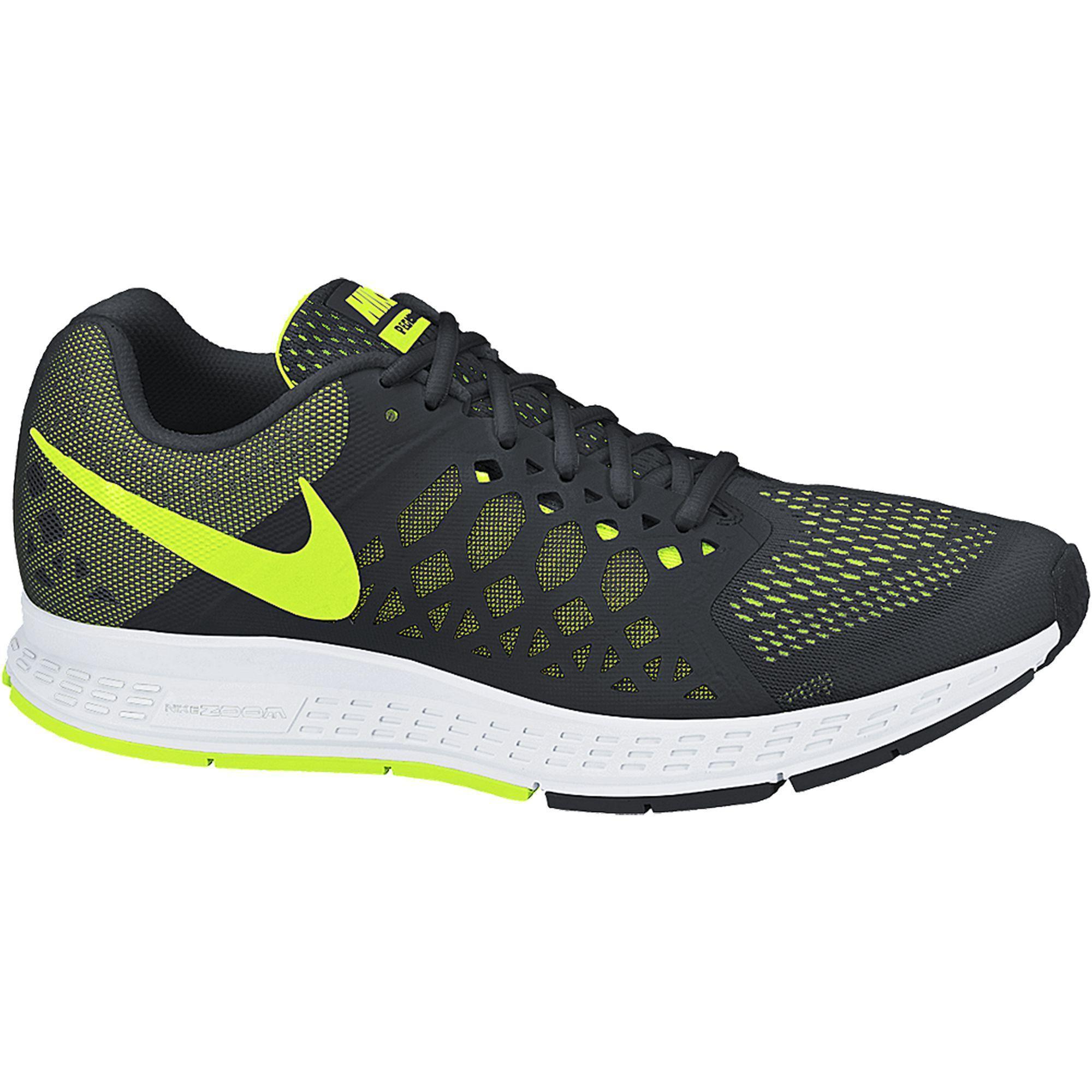 premium selection 75d3f 7b963 Nike Mens Air Zoom Pegasus+31 Running Shoes - Black Volt - Tennisnuts.com