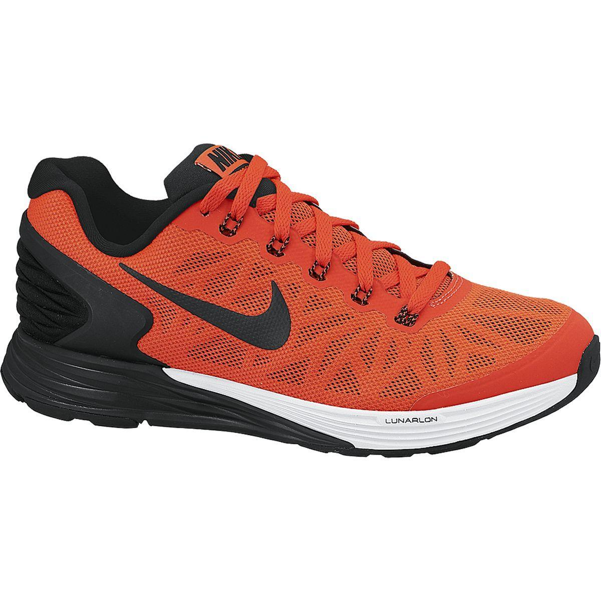 more photos 6d7e0 6b47d Nike Boys LunarGlide 6 Running Shoes - Bright Crimson Black - Tennisnuts.com